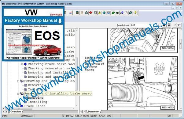 Vw Eos Service Repair Workshop Manual