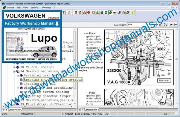 VW Volkswagen Lupo Repair Manual