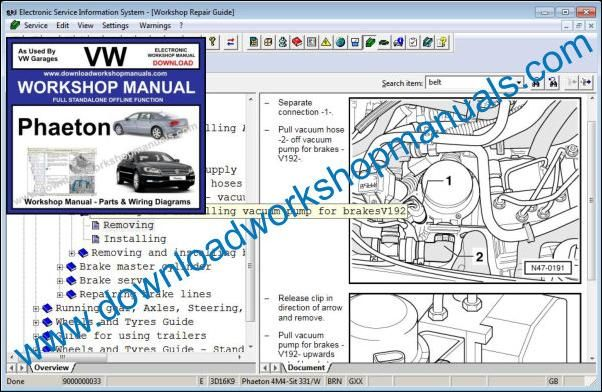 Vw Phaeton Workshop Repair Manual