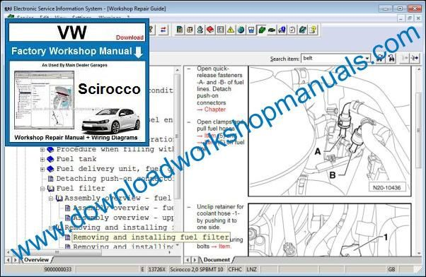 Vw Sciroco Workshop Repair Manual