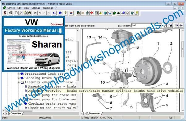 VW Volkswagen Sharan Service Manual
