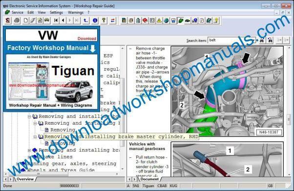 volkswagen tiguan service manual