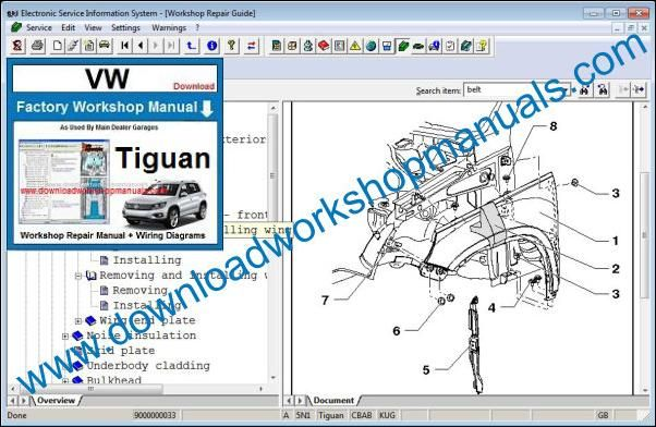 Vw Tiguan Workshop Repair Manual