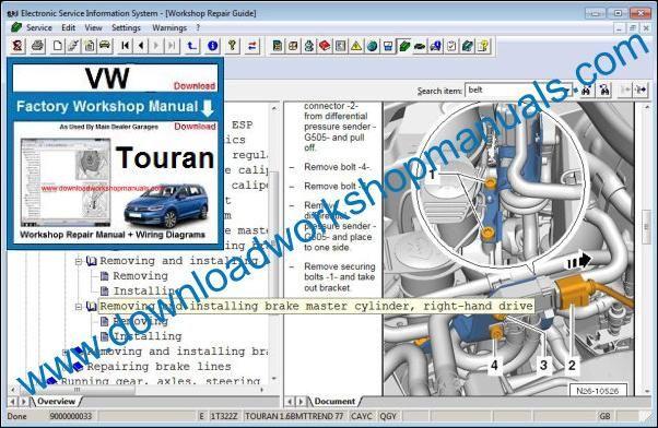Vw Touran Workshop Repair Manual
