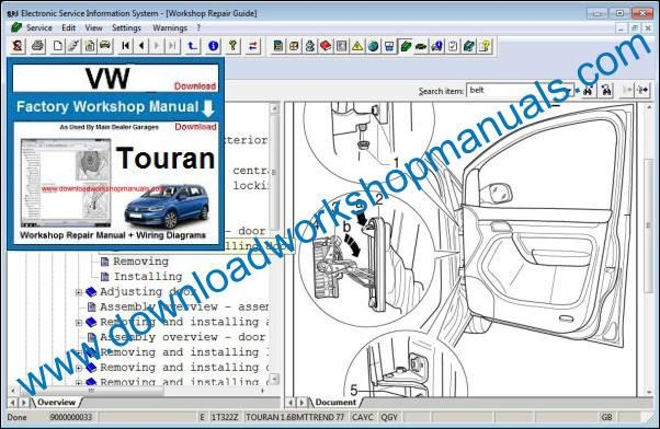 Vw Touran Workshop Repair Manual