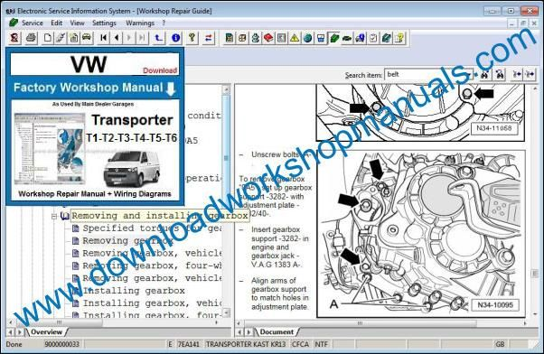 VW Volkswagen Transporter Repair Manual