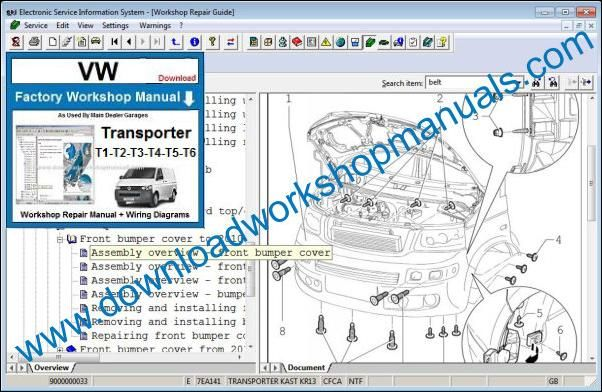 VW Volkswagen Transporter Workshop Manual