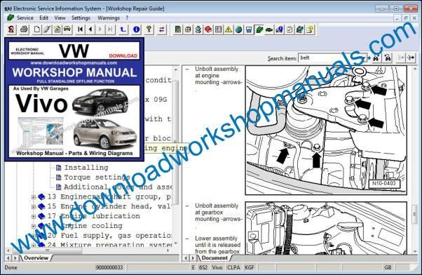 VW Volkswagen Vivo Repair Manual