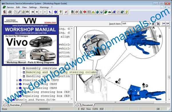 VW Volkswagen Vivo Service Manual