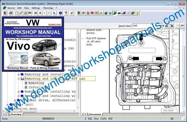 VW Volkswagen Vivo Workshop Manual