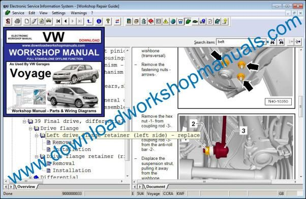VW Volkswagen Voyage Workshop Manual