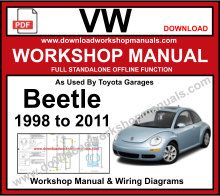 volkswagen beetle 1998 to 2011 pdf workshop repair manual