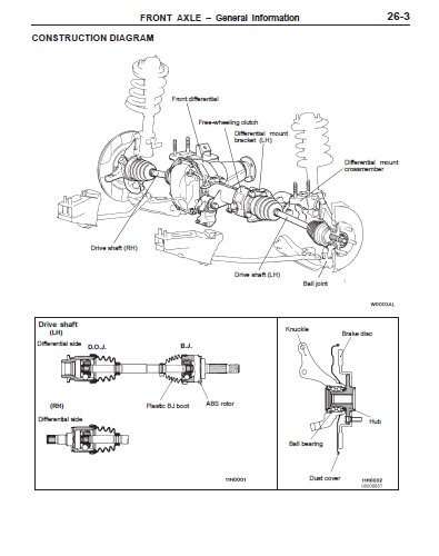 mitsubishi pajero pinin workshop manual download