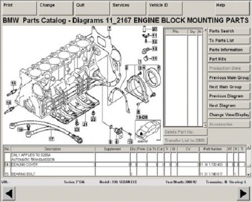 BMW EPC ETK Electronic Parts Catalogue