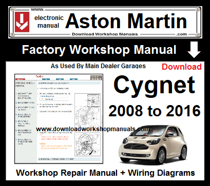 aston martin cygnet workshop manual