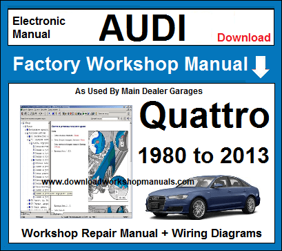 Audi Quattro Service Repair Workshop Manual