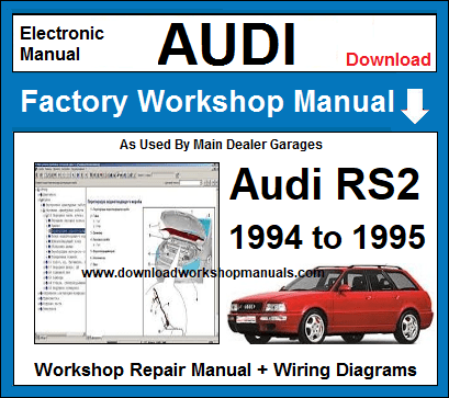 Audi RS2 Service Repair Workshop Manual
