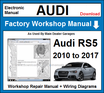 Audi RS5 Service Repair Workshop Manual