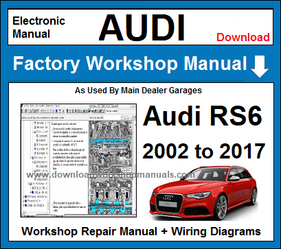 Audi RS6 Service Repair Workshop Manual