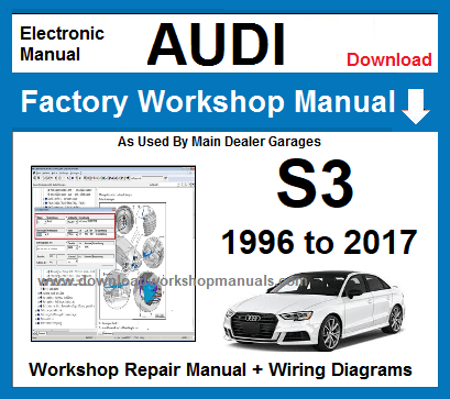 Audi S3 Service Repair Workshop Manual