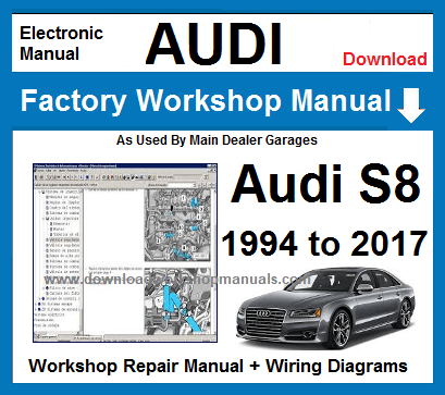 Audi S8 Service Repair Workshop Manual