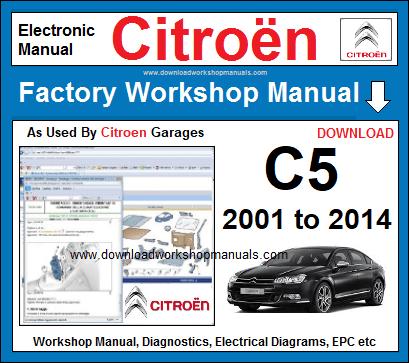 Automobilia >> OFFICIAL WORKSHOP Manual Service Repair Citroen C5 ...