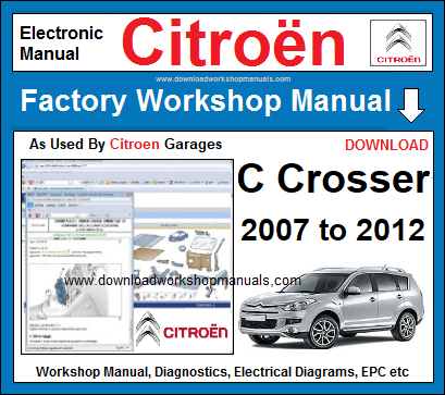 Citroen C-Crosser Workshop Manual Download