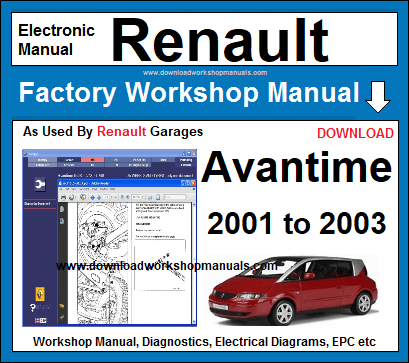Renault Avantime Workshop Service Repair Manual