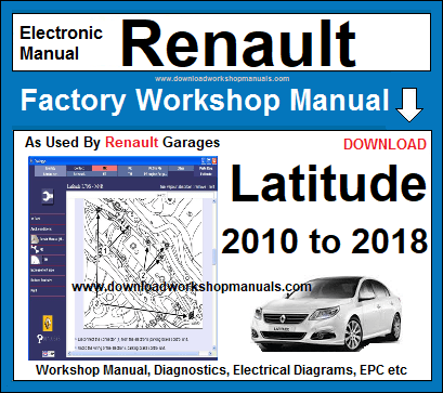 Renault Latitude Workshop Service Repair Manual