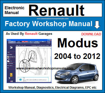 Renault Modus Workshop Repair Manual Download on Electrical Systems Wiring Diagrams