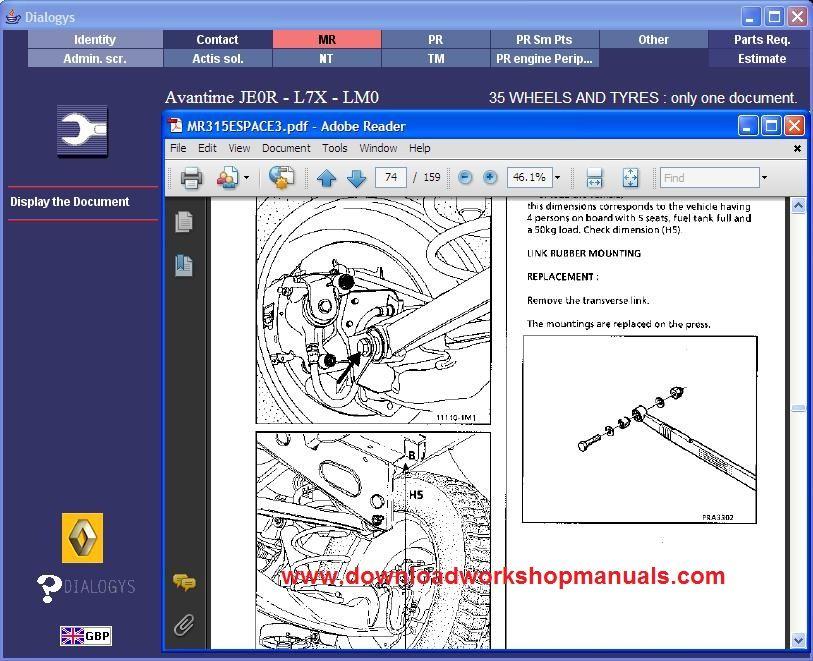 Renault Avantime Workshop Service Repair Manual Download