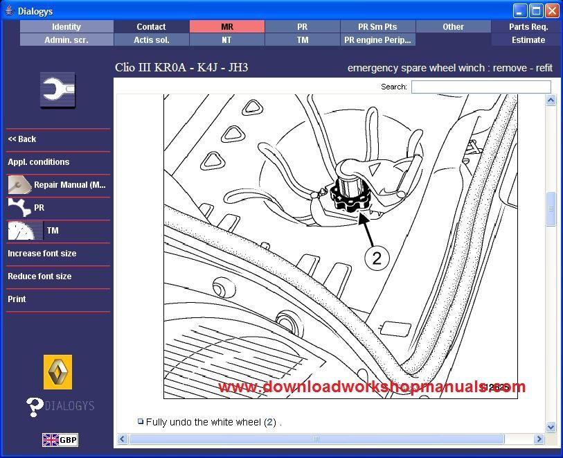 renault clio workshop service repair manual download. Black Bedroom Furniture Sets. Home Design Ideas