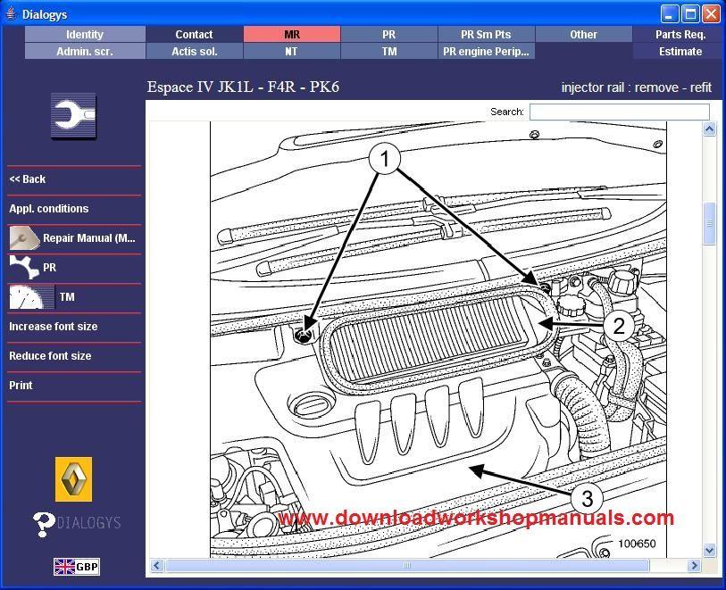 Renault Espace Service Repair Workshop Manual