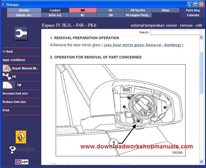 Renault Espace Workshop Service Repair Manual Download