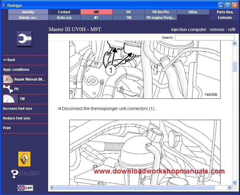 Renault Master Wiring Diagram Pdf