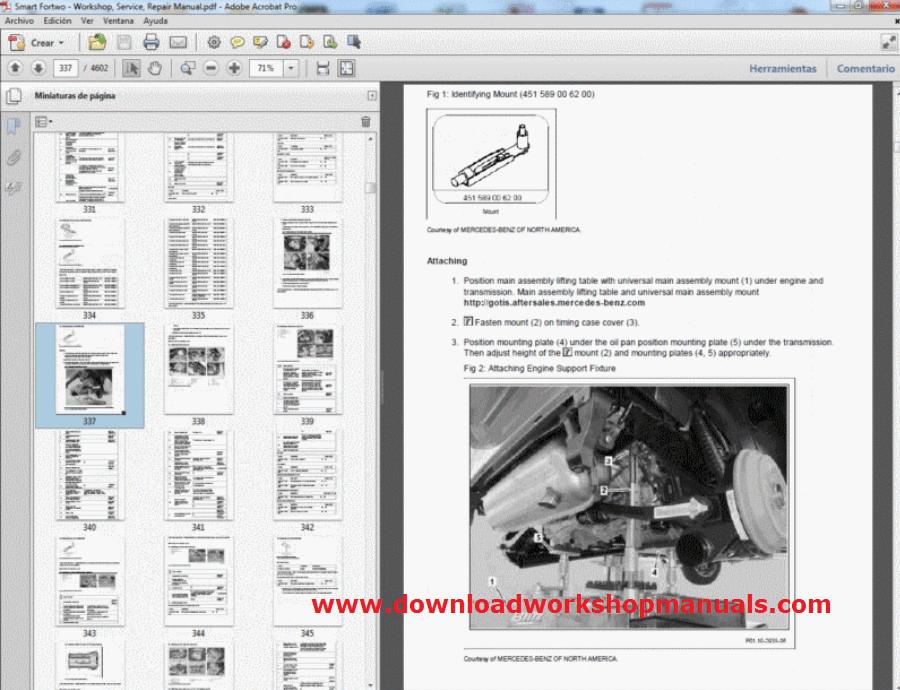 Smart Car Fortwo Workshop Service Repair Manual Download