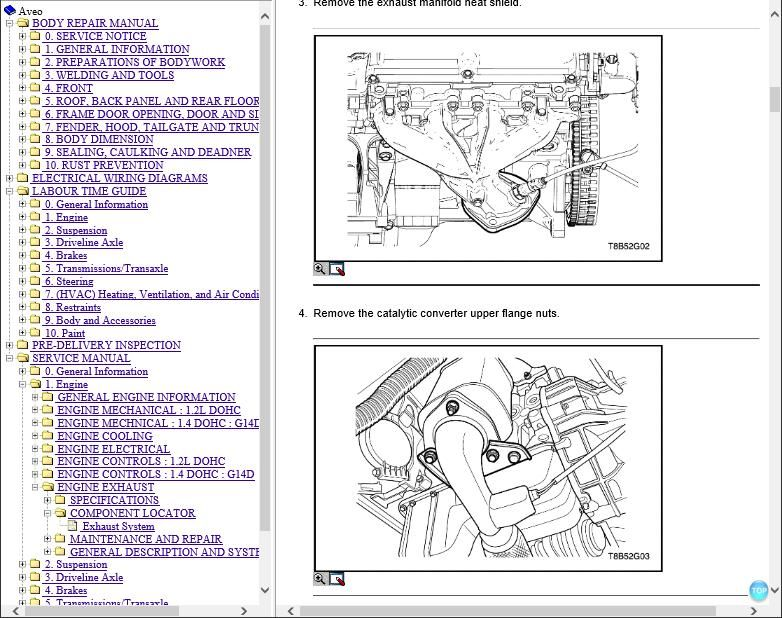 Chevrolet Kalos Workshop manual and Wiring Diagrams