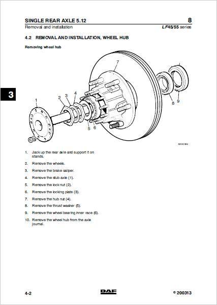daf lf45 workshop service repair manual download