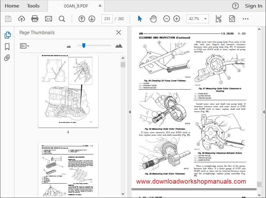dodge dakota workshop repair manual download