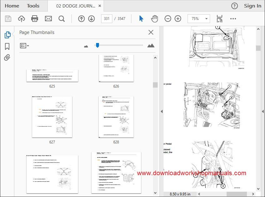 Dodge Journey Service Repair Workshop Manual Download