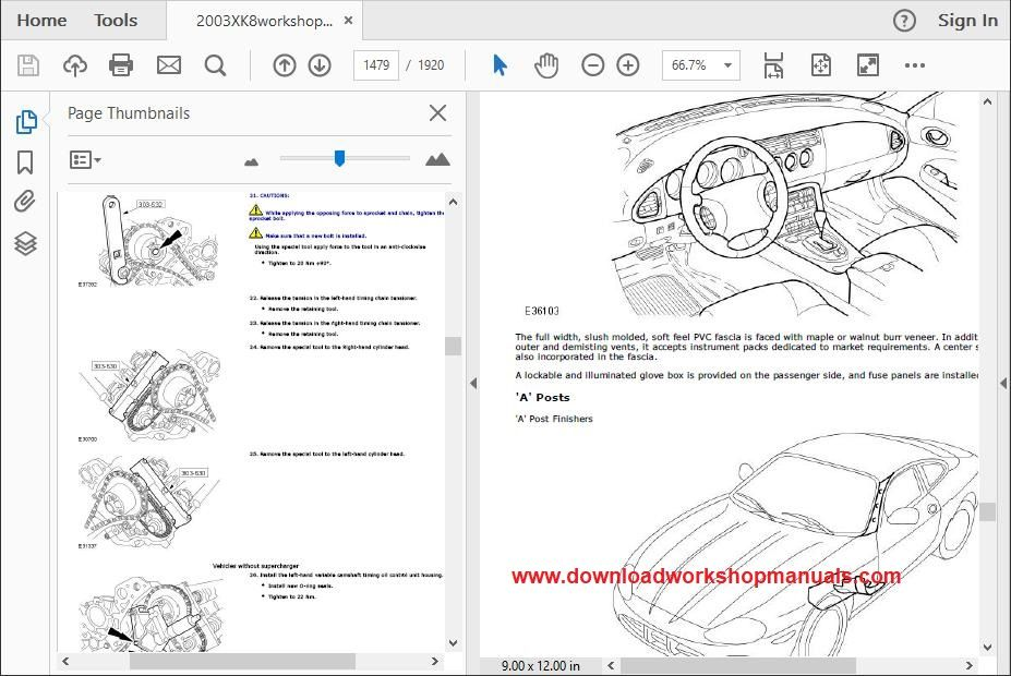 Jaguar XK8 XKR Service Repair Workshop Manual