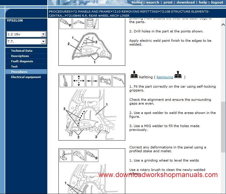 Lancia Ypsilon Service Repair Workshop Manual