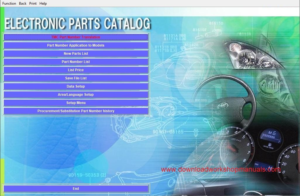 Lexus EPC Electronic Parts Catolog Download