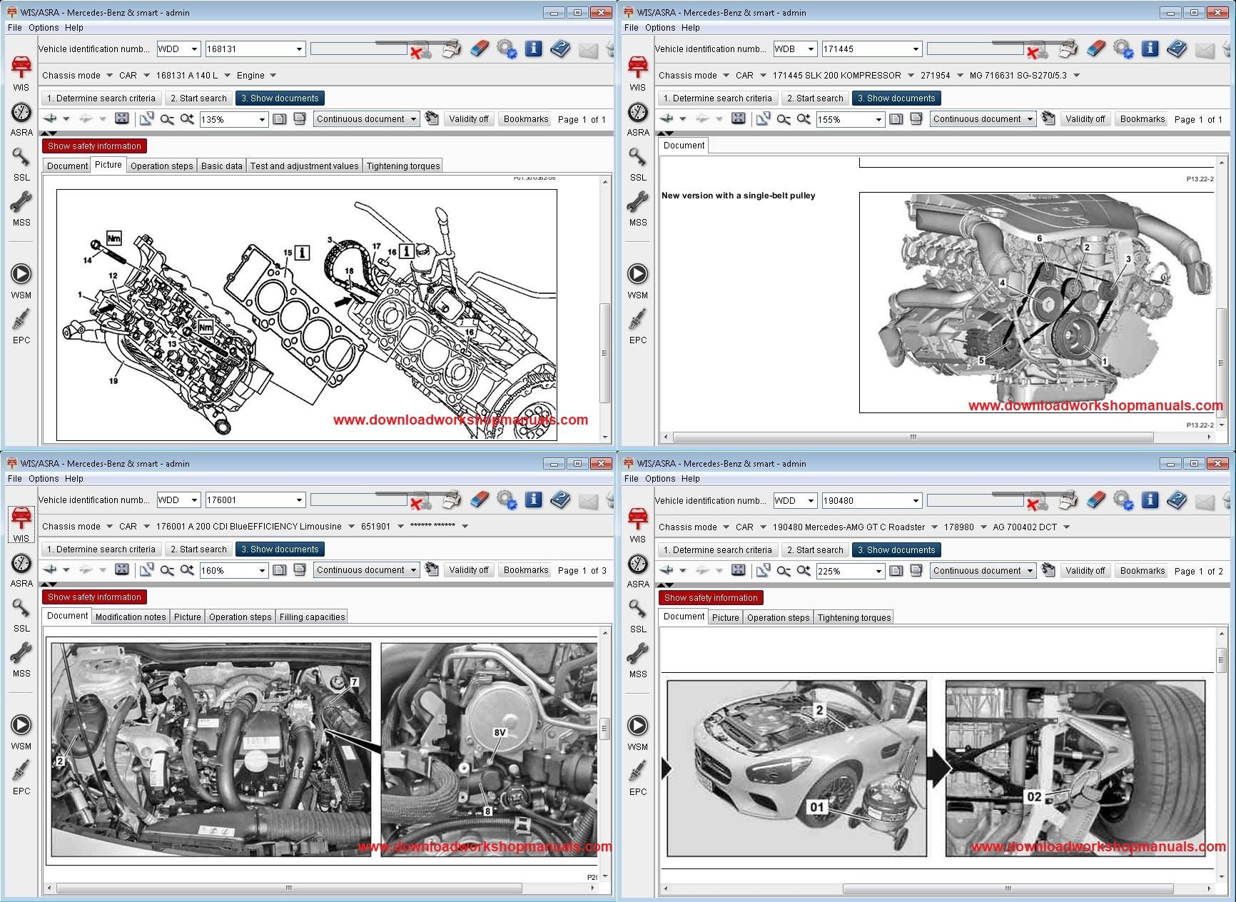 Mercedes M Class Service Repair Workshop Manual