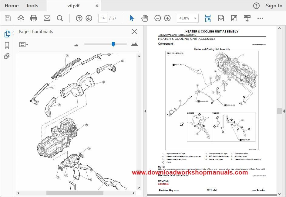 nissan navara workshop service repair manual