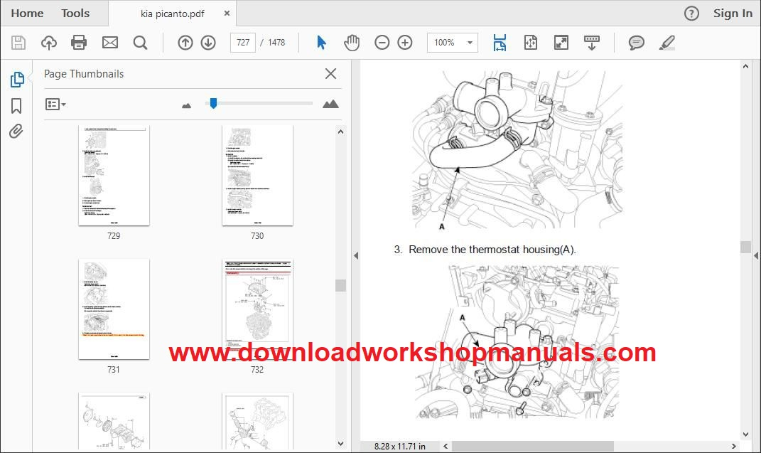 Kia Picanto 2004 To 2011 Workshop Repair Manual