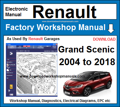 renault grand scenic service repair workshop manual