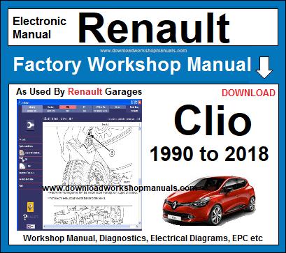 Renault Clio Workshop Service Repair Manual Download border=