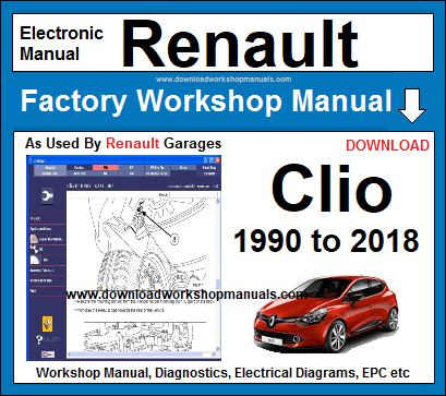 Renault Clio Workshop Service Repair Manual Download on