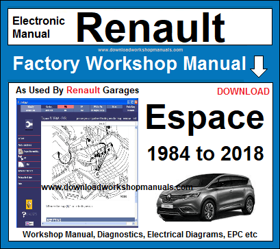Renault Espace Workshop Service Repair Manual